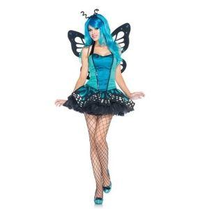 NWT Leg Avenue Swallowtail Butterfly Bustier 3pc